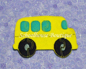 School Bus Felt Puzzle - Logic Thinking Game -Easter Basket Filler - Stocking Stuffer - Preschool Puzzle - Soft Game-Sensory Toy