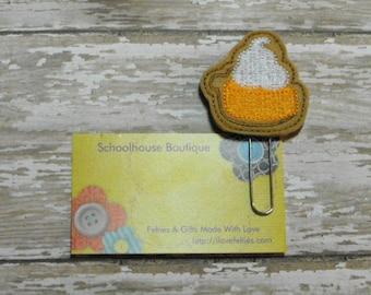 Pumpkin Pie felt paperclip bookmark, felt bookmark, paperclip bookmark, feltie paperclip, christmas gift, teacher gift