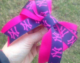 NY Yankees Hair Bow