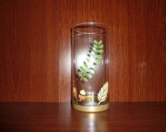 Vase Hand Painted Leaf and Acorns