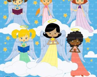 Angels  clipart, commercial use, vector graphics, digital clip art, digital images, AMB-255