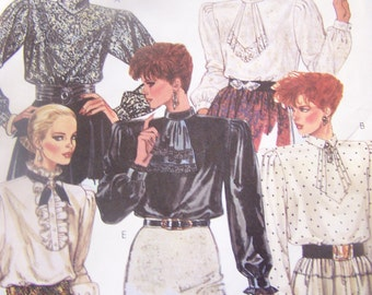 McCalls 2644, Size 12, misses, womens UNCUT sewing pattern, blouse, top, craft, supplies