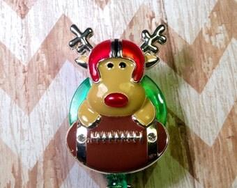 Reindeer retractable badge reel