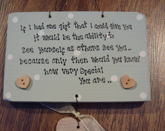 Shabby Personalised wooden chic Special Friend gift... Best Friend.. Birthday.. any names added..