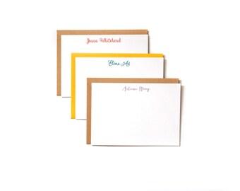 Custom Letterpress Stationery - Set of 50 - 1-color letterpress