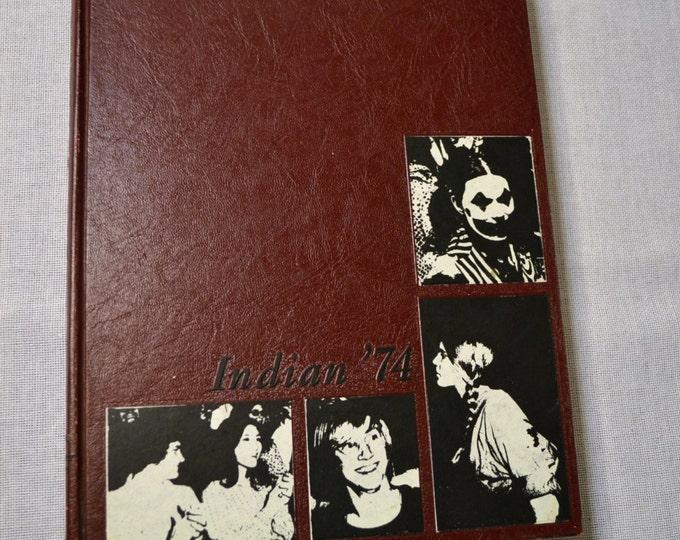 Vintage Yearbook 1974 Indian Arkansas State University Vintage Book  PanchosPorch