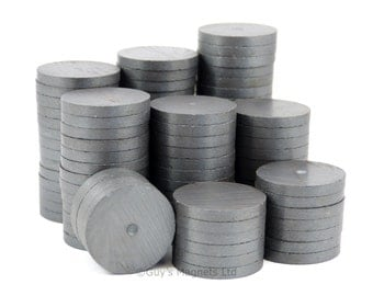 28mm x 3.5mm x 50 pieces strong C8 Ceramic Ferrite round circular disk magnets GuysMagnets