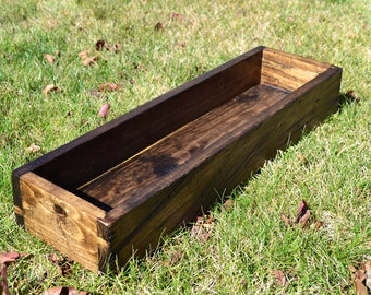 Rustic Wood Centerpiece Box 36""