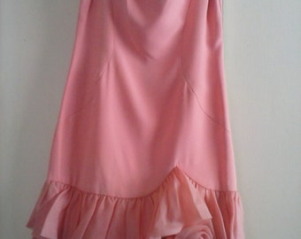 Fantastic 1970's Salsa/Party dress with Double Ruffled bottom