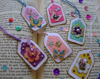Mini Paper Tags, Birthday Tags, Birthday, Vintage, Shower, Scrapbook, Thanks,Thank You Tag, (Set of 6)