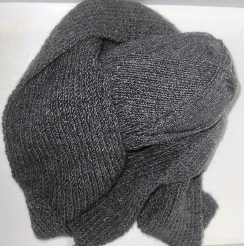 Knitting Scarves For Men : Men s knitted scarf handmade gift for knitting