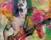 Santana Art, Classic Rock Original Painting Art Print