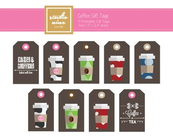 Coffee Printable Gift Tags