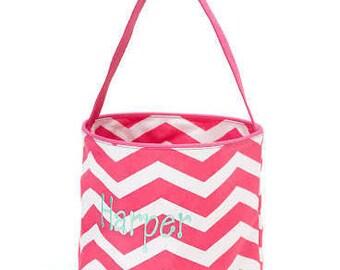 Pink Chevron Bucket/basket
