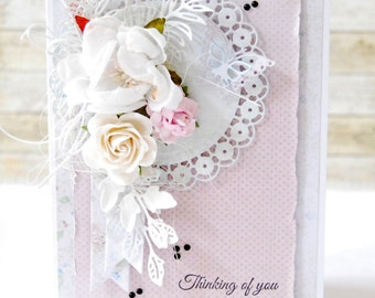 "Handmade "" Thinking of you "" card"