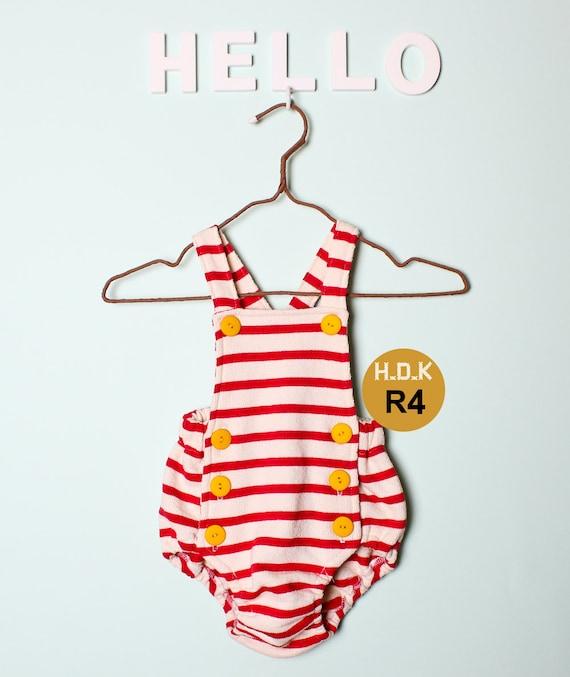 Kids Sewing Pattern Pdf Retro Baby Toddler Romper One