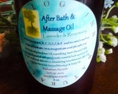 Sensual After Bath & Massage Oil with Sunflower, Sweet Almond, and Avocado Oils/deep penetration/healing/moisturizing/all skin types