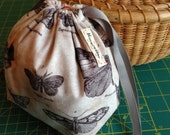 Backyard Botanist Butterflies: Sock Ditty Project Bag