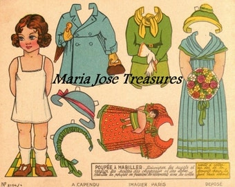 Vintage French Paper Dolls 3 - Digital Download