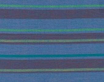 Kaffe Fassett Alternating Stripe in Blue- 1/2 Yard