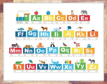 Alphabet Train Print for Download - Personal Use