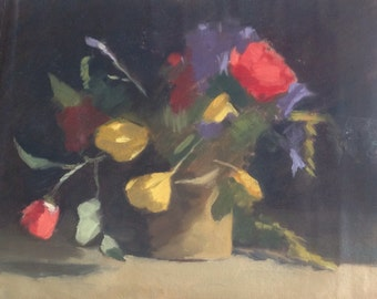 Flower Study. Oil painting