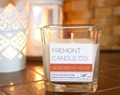 SALE Gingerbread House Scented Soy Candle 7 oz. - Hand poured - Eco-friendly 100% Soy Wax