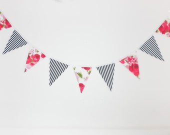 Fabric Pennant // Red Summer