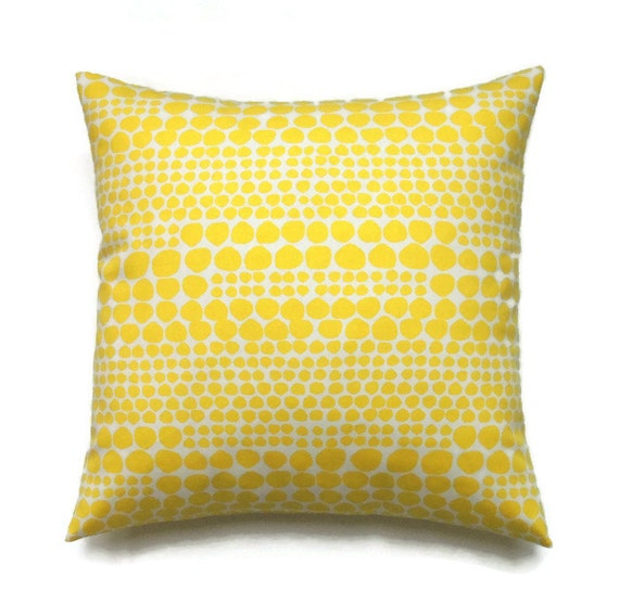 Yellow Decorative Pillow Covers : Yellow Pillow 20x20 Pillow Cover Decorative by ThePillowToss