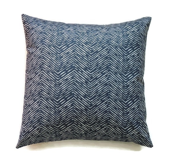 Blue Pillow 22x22 Pillow Cover Accent Pillow by ThePillowToss