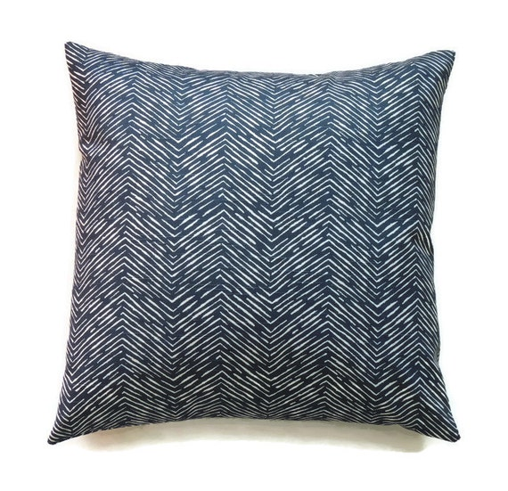 22x22 Throw Pillow Covers : Blue Pillow 22x22 Pillow Cover Accent Pillow by ThePillowToss