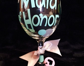 Maid or Matron of Honor Wine Glass