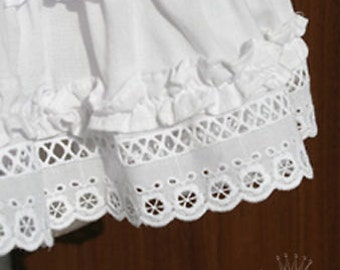 "14Yds Broderie Anglaise Eyelet cotton lace trim 2""(5cm) YH1295 laceking2013"