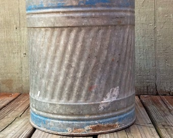 Large Galvanized Metal Gas Can