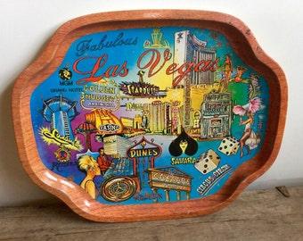 Vintage Las Vegas Tray