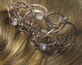 Steampunk style hair comb/fork