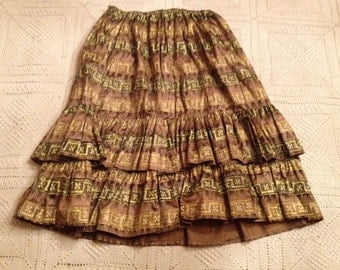 Vintage 1970s skirt with matching Bolero