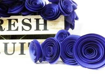 Blue Paper Flowers, Winter Wedding, Navy Blue Wedding, Centerpiece, Floral Arrangement, Wedding Paper Flowers, Paper Roses, Something Blue