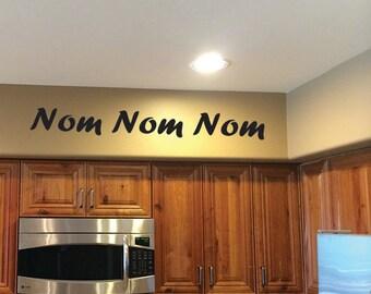 Kitchen Design, Nom Nom Nom Wall Decal