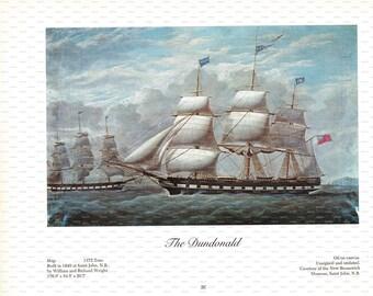 "Clipper Ship Book Plate. ""The Dundonald"". 1967."