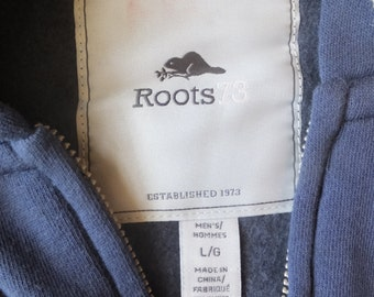 Vintage Roots Navy Blue Hoodie, Mint Condition