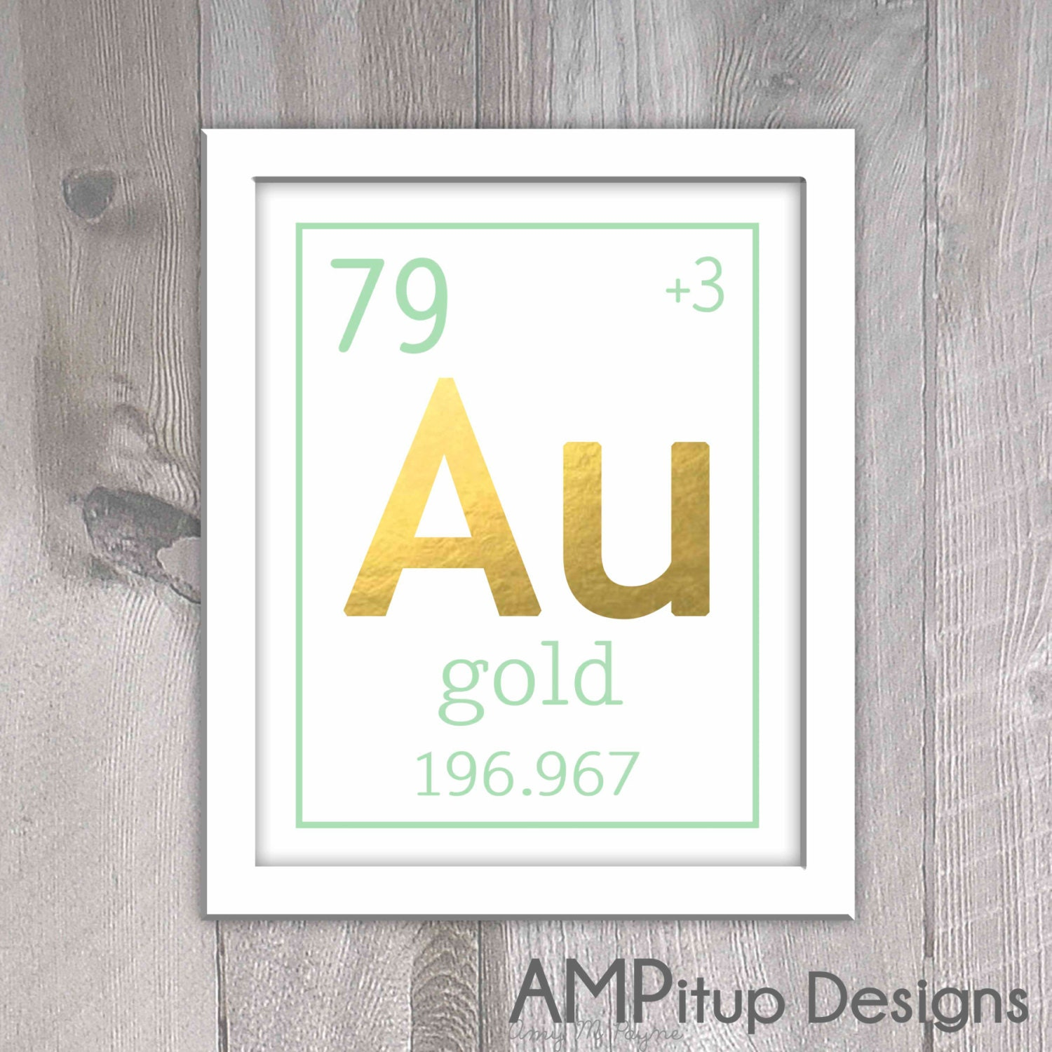 Gold Wall Home Decor : Mint and gold home decor wall by ampitupdesigns