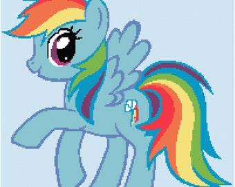 Crochet Graph Pattern for Rainbow Dash the pony