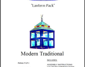 Modern Traditional Stained Glass Lantern Pattern Pack
