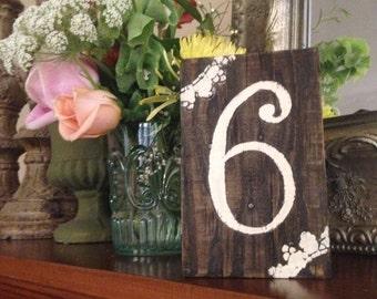 Wedding Table Number Blocks