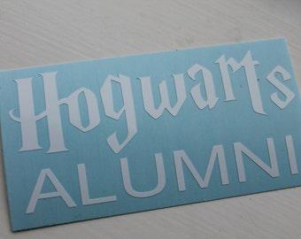 Hogwarts Alumni Harry Potter Car decal