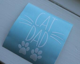 Car Decal Cat Dad, Cat Lover