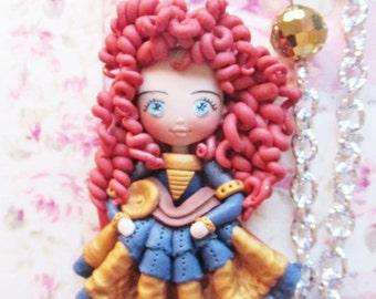 The brave. merida 5 cm polimer clay handmade
