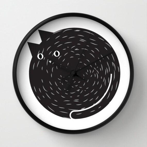 Orologio gatto orologio da parete orologio per gatti for Parete attrezzata gatti