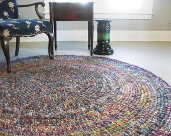 round rug crochet yarn rug 6ft round area rug